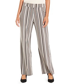 Petite Striped Palazzo Pants, Created For Macy's