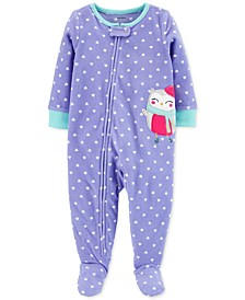 Toddler Girls 1-Pc. Owl Fleece Footie Pajamas