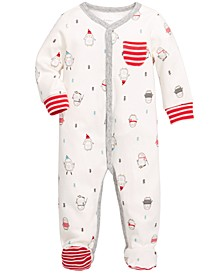 Baby Boys Cotton Penguin Footed Coverall, Created For Macy's
