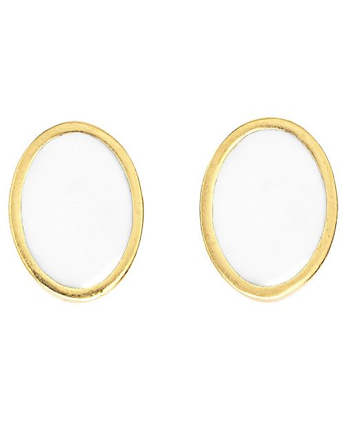 Stephanie by Stephanie Kantis Stephanie Kantis Nugget Stone Ea, gold-plated, Mop F