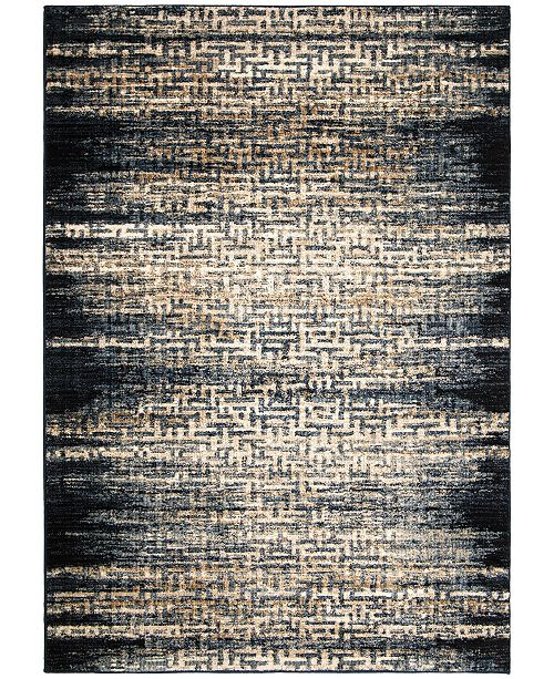 "Palmetto Living Adagio China Key Black 6'5"" x 9'6"" Area Rug"