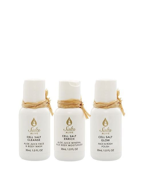 Tiffany Andersen Brands Cell Salt Travel Kit 3 Piece feat. Hemp Seed Oil