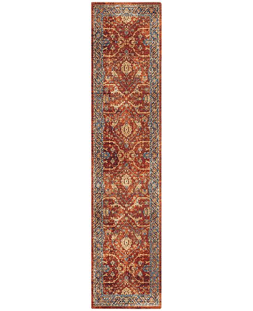 "Palmetto Living Alexandria Ankara Red 2'2"" x 8' Runner Rug"