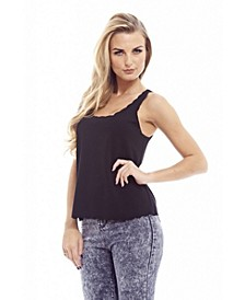 Women's Plain Scallop Edge Top