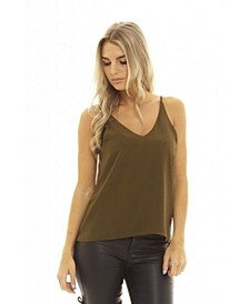 Women's Plain V Front Vest Top