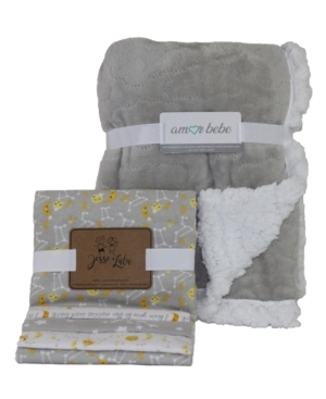 3 Stories Trading Amor Bebe Etched Cloud Galaxy Baby Blankets Gift Set