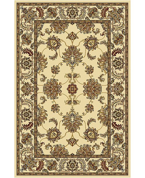 "KM Home CLOSEOUT! 1330/1212/IVORY Navelli Ivory 7'9"" x 9'6"" Area Rug"