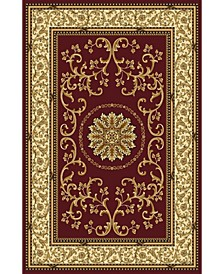 """CLOSEOUT! 1419/1332/BURGUNDY Navelli Red 7'9"""" x 9'6"""" Area Rug"""