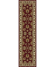 "CLOSEOUT! 1330/1234/BURGUNDY Navelli Red 2'2"" x 8' Runner Rug"