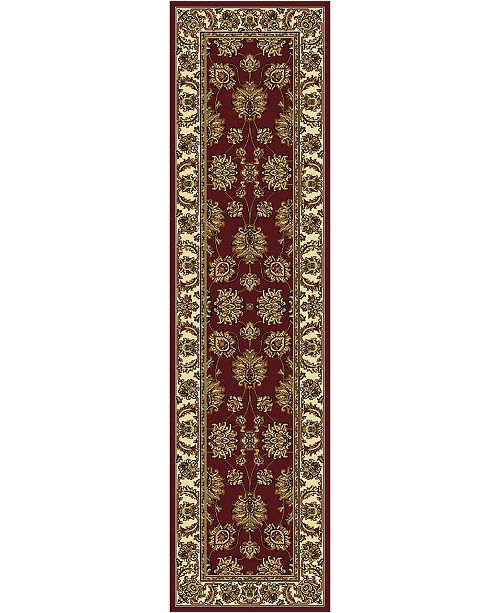 "KM Home CLOSEOUT! 1330/1234/BURGUNDY Navelli Red 2'2"" x 8' Runner Rug"