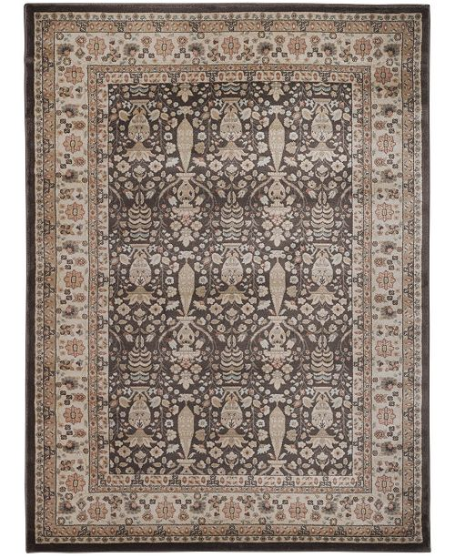 "KM Home CLOSEOUT! 3812/1010/BROWN Gerola Brown 3'3"" x 4'11"" Area Rug"