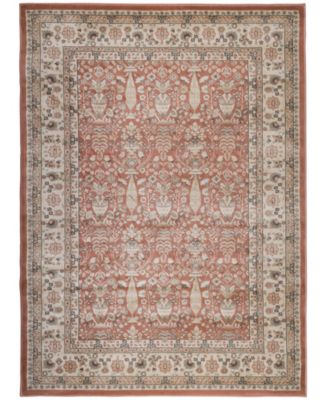 """CLOSEOUT! 3812/1030/TERRACOTTA Gerola Red 3'3"""" x 4'11"""" Area Rug"""