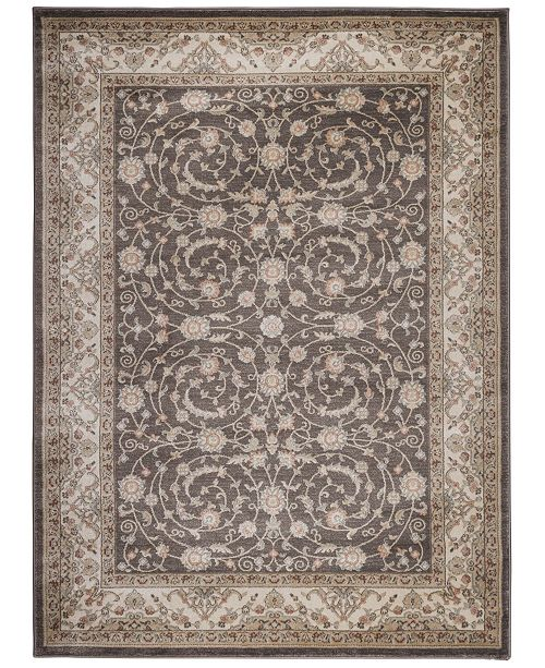 "KM Home CLOSEOUT! 3810/0012/BROWN Gerola Brown 7'10"" x 10'6"" Area Rug"