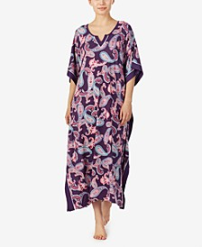 Paisley and Classic Medallion Prints Knit Caftan