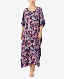 Ellen Tracy Paisley and Classic Medallion Prints Knit Caftan