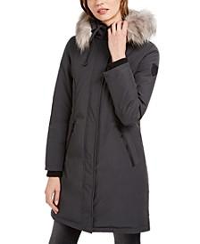 Hooded Faux-Fur-Trim Down Parka