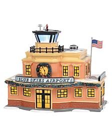 D56 Villages Snow Village Blue Skies Airport