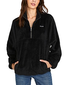 Juniors' Pheelin Phuzzy Mock-Neck Sweater