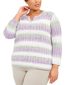 Plus Size Loire Valley Embellished Popcorn Sweater