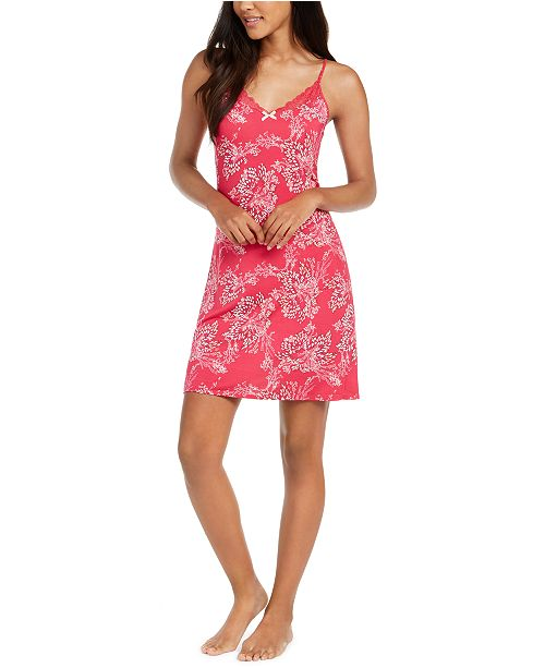 Sesoire Contrast Printed Chemise Nightgown