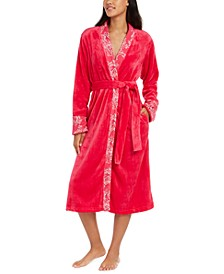 French Fleece Long Wrap Robe