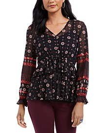 Tie-Waist Peasant Blouse, Created For Macy's