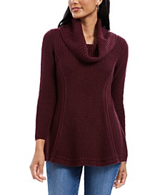Mixed-Stitch Cowlneck Tunic, Created For Macy's
