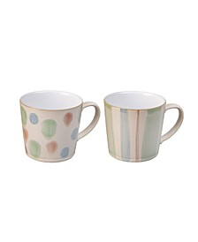 Pastel Multi Set of 2 Mugs