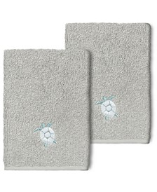 100% Turkish Cotton Ava 2-Pc. Embellished Washcloth Set
