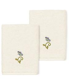 100% Turkish Cotton Rebecca 2-Pc. Embellished Washcloth Set