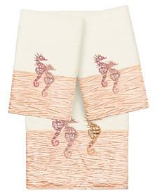 100% Turkish Cotton Sofia 3-Pc. Embellished Bath and Hand Towel Set