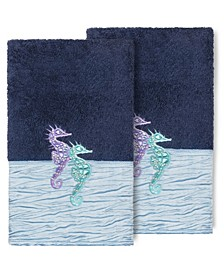 100% Turkish Cotton Sofia 2-Pc. Embellished Hand Towel Set