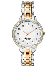 Women's Morningside Scalloped Tri-Tone Stainless Steel Bracelet Watch 38mm