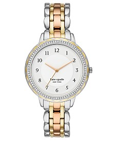 Kate Spade New York Women's Morningside Scalloped Tri-Tone Stainless Steel Bracelet Watch 38mm