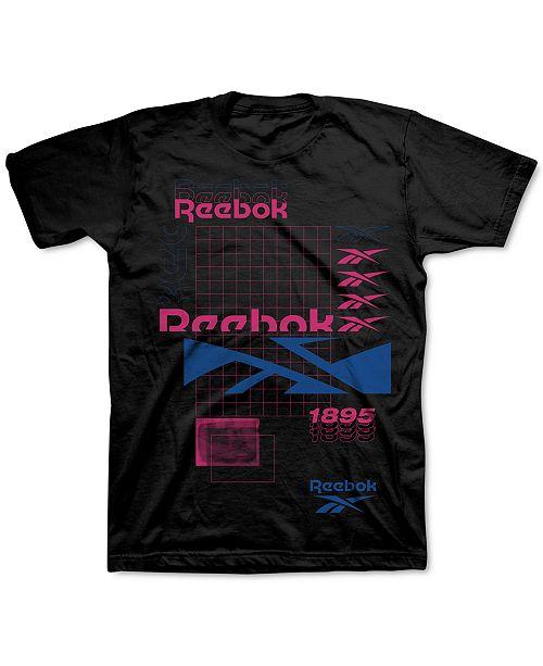 Reebok Men's Logo Repeat Graphic T-Shirt
