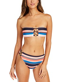 Bandeau Bikini Top & High-Waist Bottoms