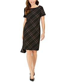 Plaid Printed Sheath Dress