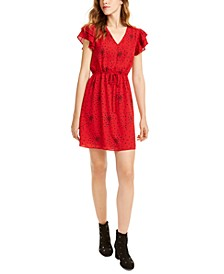 Heart-Print Drawstring Dress, Created For Macy's