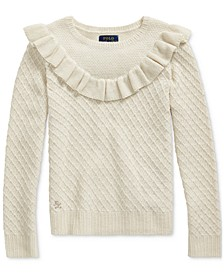 Big Girls Ruffled Metallic Sweater