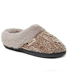 Women's Cable Knit Chenille Slipper Clog, Online Only