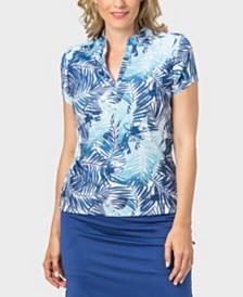 Nancy Lopez Tropic Short Sleeve Polo Plus