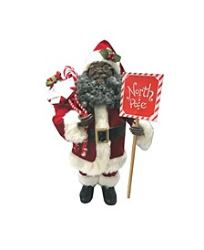"16"" African American North Pole Santa"