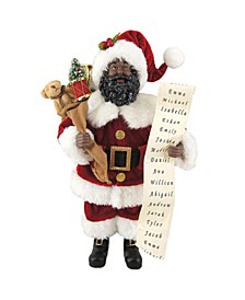 "12"" African American Santa with His List"
