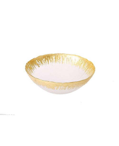 Classic Touch Individual Bowl with Flashy Gold-Toned Design