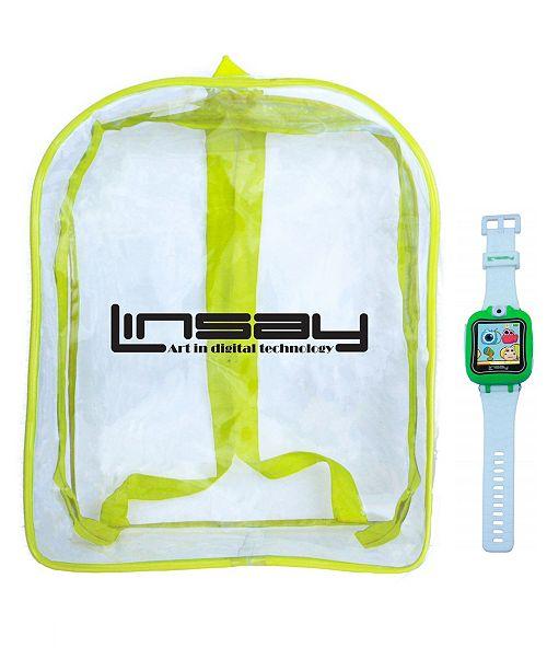 "LINSAY 1.5"" Kids Smart Watch Cam Selfie with Bag Pack"