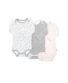 Gertex Dream Baby Girls Long Sleeve Bodysuit 3 Pack in Giftbox