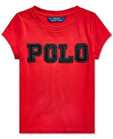 Polo Ralph Lauren Toddler Girls Cotton Jersey Logo T-Shirt