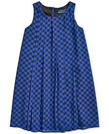 Toddler Girls Check Pleated Shift Dress, Created For Macy's