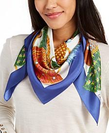 Heritage Tassels Print Silk Square Scarf