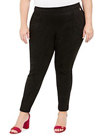 Plus Size Slim-Fit Ankle Pants